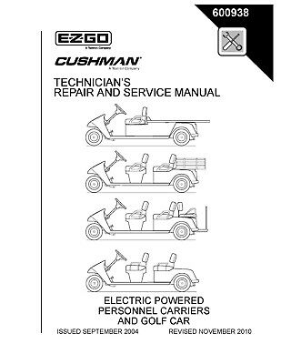 2005 & Up Ezgo Electric Personal 5 Passenger Vehicles Service Manual - 600938