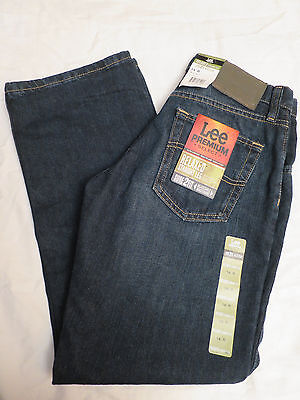 """NEW Lee Premium Relaxed Straight Leg Blue Jeans Boys 14 reg Young men  27""""x 27"""""""