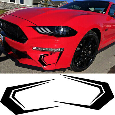 Blade Shape Sporty Decal Car Fornt Bumper Decor Trim For Ford Mustang 2018-2019