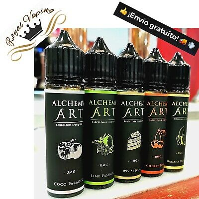Eliquid FULL PACK GAMA PREMIUM ALCHEMY ART Barcelona Eliquids - 50M - 0mg- X5!