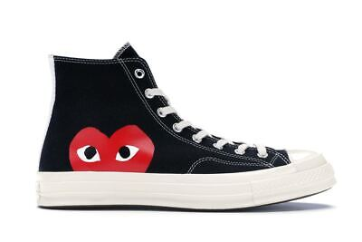 Scarpe Sneaker Converse Comme des Garcons Play nere black alte high