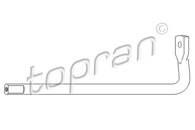 TOPRAN 109 741 Tensioner Lever, v-ribbed belt to12G22 OE REPLACEMENT TOP Quality