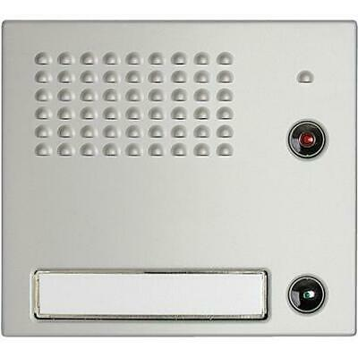 332111 Bticino SFERA - FRONT COVER FOR SPEAKER AND 1 BUTTON, NATURAL ALUMINUM