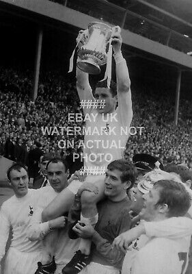 1967 Fa Cup Dave Mackay Photo Choose Print Size Tottenham Spurs Team Trophy