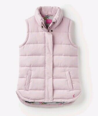Joules Womens Eastleigh Padded Gilet - SOFT LILAC Size 14 BNWT