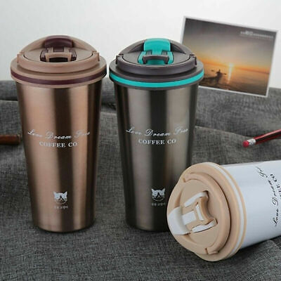 Stainless Steel Leakproof Insulated Thermal Travel Coffee Mug Cup Flask 500ML'-