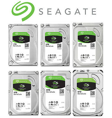 "Seagate BarraCuda 1TB 2TB 3TB 4TB 3.5"" SATA Internal Desktop Hard Drive PC HDD"