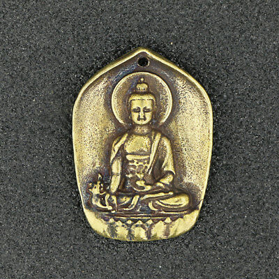 China Antique Collection Brass Buddha Statue Pendant Accessories