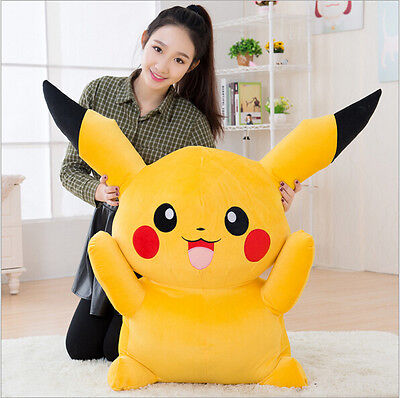 UK Giant Large Pokemon Go Pikachu Plush Soft Toy Stuffed Doll Kid Birthday Gift