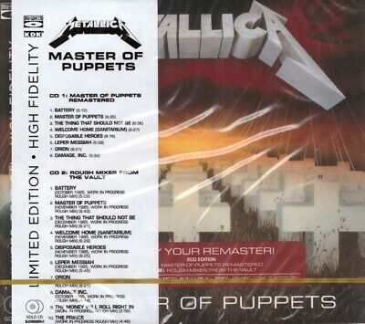 Metallica Master Of Puppets Blu-Spec Gold 2CD New Sealed