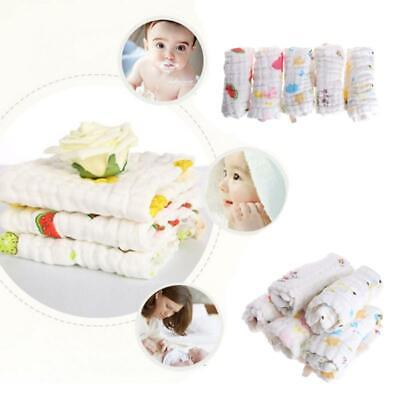 5pcs Baby Handkerchief Square Towels Muslin Cotton Infant Face Towel Wipes Cloth
