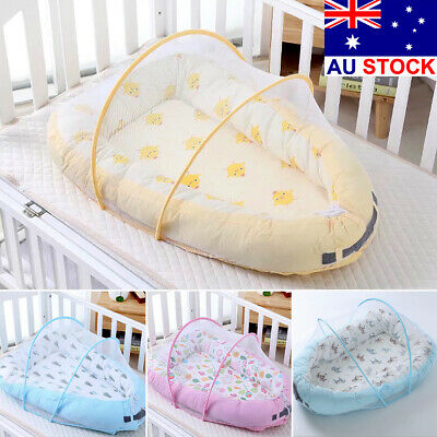 AU Baby Grand Nest Newborn With Bed Canopy Sleeper Toddler Portable Crib Lounger