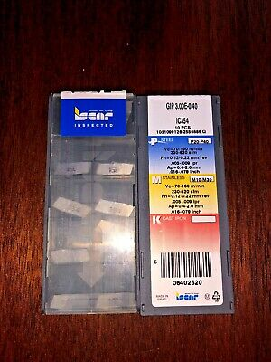 New Iscar GFF 6N IC354 Buy it Now = 10 inserts Free Shipping