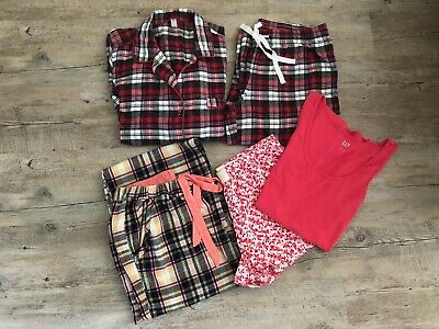 Women's nightwear bundle pj sets shortie set size 8-10 GAP M&S x5 pieces