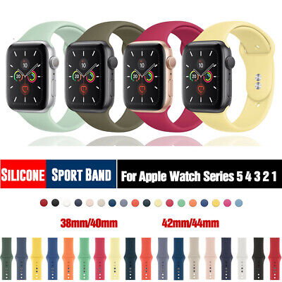 Silicone Sports Band iWatch Strap for Apple Watch Series 5 4 3 2 1 38/42/40/44MM