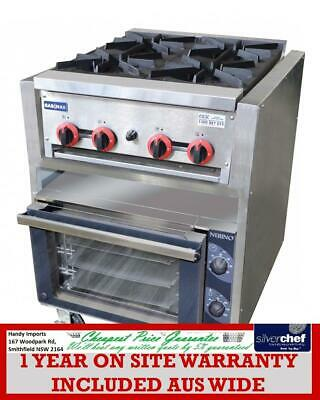 Gas Top Burners with Electric Convection Oven - RB4-TD3NE