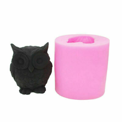 3D Silicone Owl Bird Candle Molds Soap Making DIY Craft Wax Resin Mould Tool SG