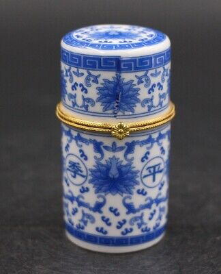 Chinese Style White Porcelain Boy Lad Toothpick Box Storage Jewelry Box 四季平安