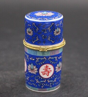 "Chinese white porcelain Toothpick Holder Box Boxes Jewelry""万寿无疆"