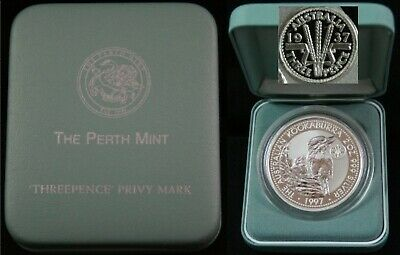 1997 Silver Two Ounce Proof Privy Mark 1937 Crown