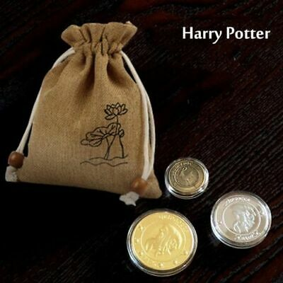 3PCS Harry Potter Hogwarts Gringotts Bank Wizarding Galleons Coins No Bag