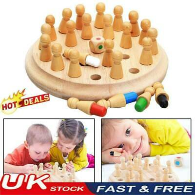 Kids Wooden Memory Match Stick Chess Game Educational Toy Brain Training Gifts@D