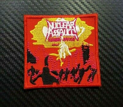 NUCLEAR ASSAULT ROCK MUSIC WOVEN METAL BADGE Embroidered Iron Sew On Patch Logo