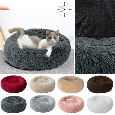 NEW Faux Fur Donut Cuddler Pet Bed Dog Beds Soft Warm for Medium Small Dogs Cat
