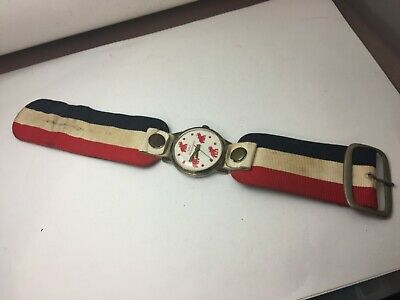 Vintage 1950's ? Swiss Made Wind Up Vote Republican Elephant Wrist Watch RARE