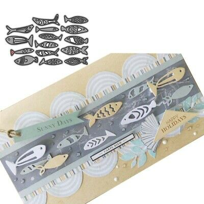 Kinds of Fishes Metal Cutting Dies Scrapbooking Photo Album Card Embossing Craft