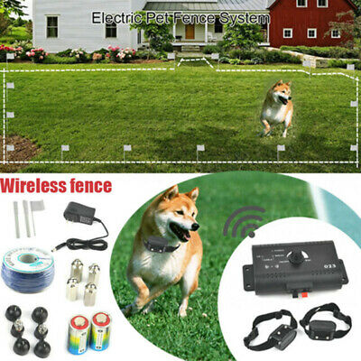 Collars Wireless Fence Electric Fencing Boundary Containment System For 2 Dogs