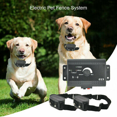 2 Dogs Underground Electric Dog Fence Containment System Wireless Collar Fencing