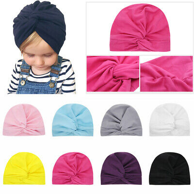 Accessories Kids Girls Beanie Cap Toddler Turban Cute Baby Hat Knotted Headband