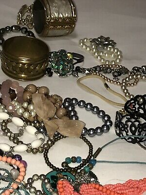 Job Lot Quality Antique Vintage Costume Jewellery Old Jewellery X 50 Pieces ❤️