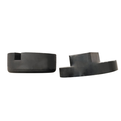 Universal Black Car Rubber Jack Pad Slotted Lifting Disk Adapter Support Block