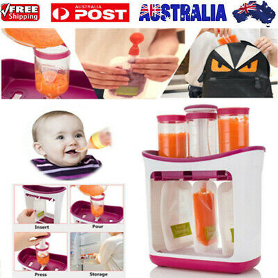AU Infant Baby Food Feeding Station Pouch Maker Homemade Fresh Squeeze Storage
