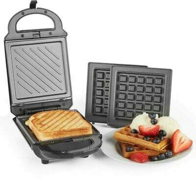 2 In 1 Sandwich Toaster Electric Waffle Maker Machine 460W Iron Grill Press New