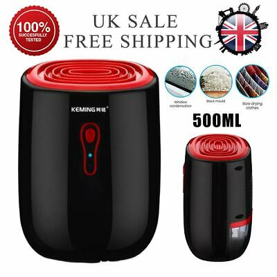 Electric Dehumidifier 500ML Home Air Dryer Damp Moisture Home Bedroom Kitchen UK