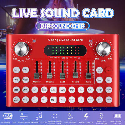Audio USB Headset Microphone Game Webcast Live Sound Card for Phone Computer