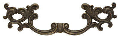 "Antique Brass Leafy French Provincial Furniture Dresser Drawer Pull 4 3/4"" C-C"