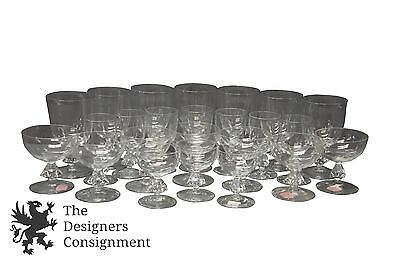 24 Bryce Hand Blown Glass Crystal Wine Champagne Gobblets Stem Ware 4 types