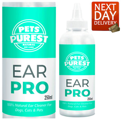 Pets Purest Dog Ear Cleaner (250Ml) Stop Itching, Head Shaking & Smell - 100%