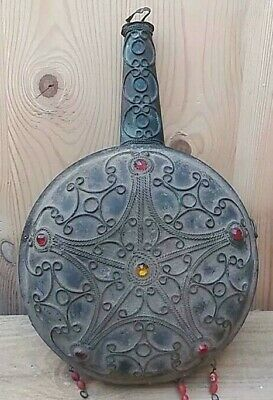 Extremely Ancient Bronze Medieval Viking Keivan Rus Decorated Bottle Stunning