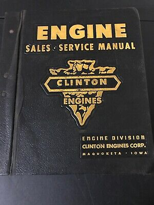 Vintage Clinton Engines Sales Service Manual