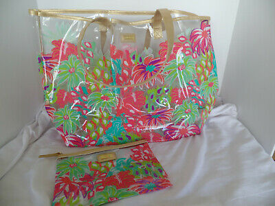 Simply Southern Clear Tote w/small makeup bag - Jungle Floral pattern