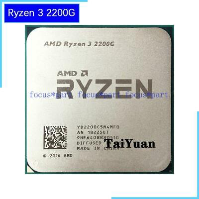 AMD CPU Ryzen 3 2200G 3.5GHz Quad (4) Core Processor Radeon Vega 8 Graphics GPU