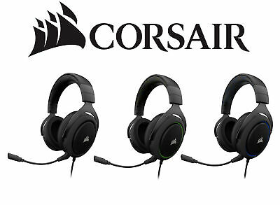 Gaming Headset Headphone Corsair HS50 Stereo Wired w/Mic PC,PS4,Nintendo SWITCH