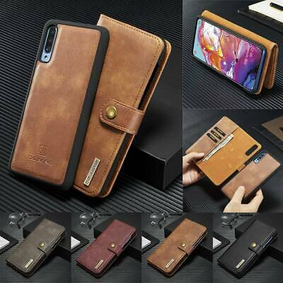 Leather Wallet Case Detachable Magnetic Cover For Samsung Galaxy A20 A30 A50 A70