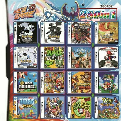 280 in 1 Combination Games Cartridge For NINTENDO 2DS/NDS/DSLITE/DSi/3DS/Xl INS