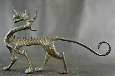 Collectables! Dynasty Old Chinese Bronze Dragon Statue